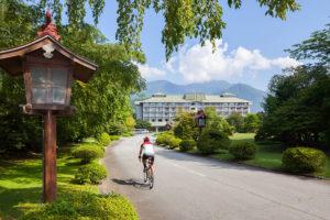 親子で富士山を自転車旅~富士ビューホテル